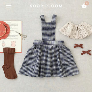 Caramel baby&child  - soor ploom エプロンワンピース 5y