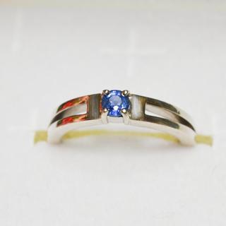 プラチナシルバー サファイアリング(リング(指輪))