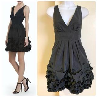 ビーシービージーマックスアズリア(BCBGMAXAZRIA)のBCBG Camilla ブラック ドレス 4万(ミディアムドレス)