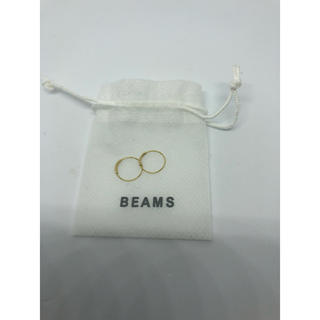 ビームス(BEAMS)のBEAMS♡ビームス♡K18♡フープピアス♡10mm(ピアス)