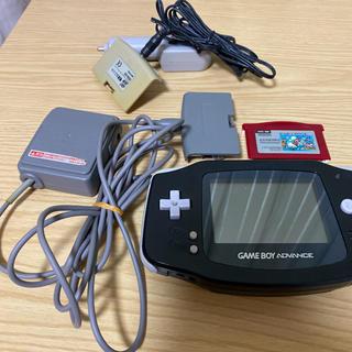 ゲームボーイアドバンス(ゲームボーイアドバンス)のゲームボーイアドバンス ソフト アダプタ シガープラグ セット(携帯用ゲームソフト)