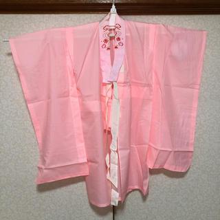 【最終価格】七五三 7歳 女の子 着物 長襦袢 鹿の子 刺繍入りの半衿付き(和服/着物)