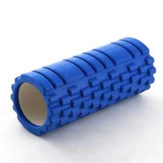 フォームローラー ブルー ヨガポール 筋膜リリース マッサージローラー(ヨガ)