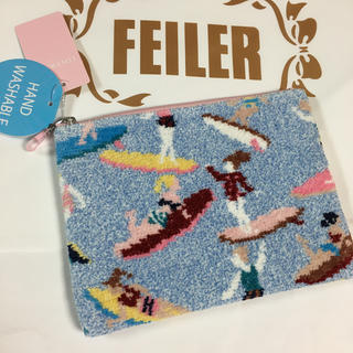 FEILER - 新品タグ付★フェイラー LOVERARY ファスナーポーチ★ナミノリガール