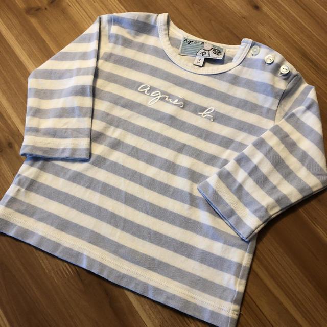 agnes b.(アニエスベー)のアニエスベー  刺繍入り ロゴ ロンT キッズ/ベビー/マタニティのキッズ服男の子用(90cm~)(Tシャツ/カットソー)の商品写真