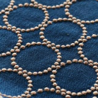 ミナペルホネン(mina perhonen)のラスト ミナペルホネン タンバリン ブルー(生地/糸)