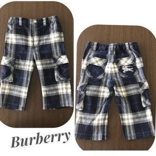 BURBERRY - バーバリー ■ チェック柄 刺繍 パンツ 80