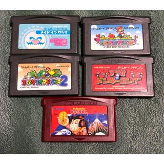 ゲームボーイアドバンス(ゲームボーイアドバンス)のGBA ソフトまとめ売り5個(携帯用ゲームソフト)