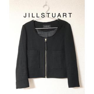 JILLSTUART - 美品★ジルスチュアートM★ノーカラージャケット ツイードジャケット秋冬