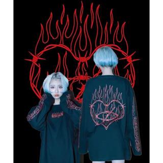 ミルクボーイ(MILKBOY)の新品♡KRY「CRY」ブラック×レッド(Tシャツ(長袖/七分))