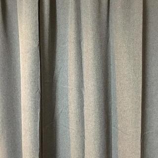 ムジルシリョウヒン(MUJI (無印良品))の無印良品 カーテン 2枚組 遮光防炎付き 100×200(カーテン)