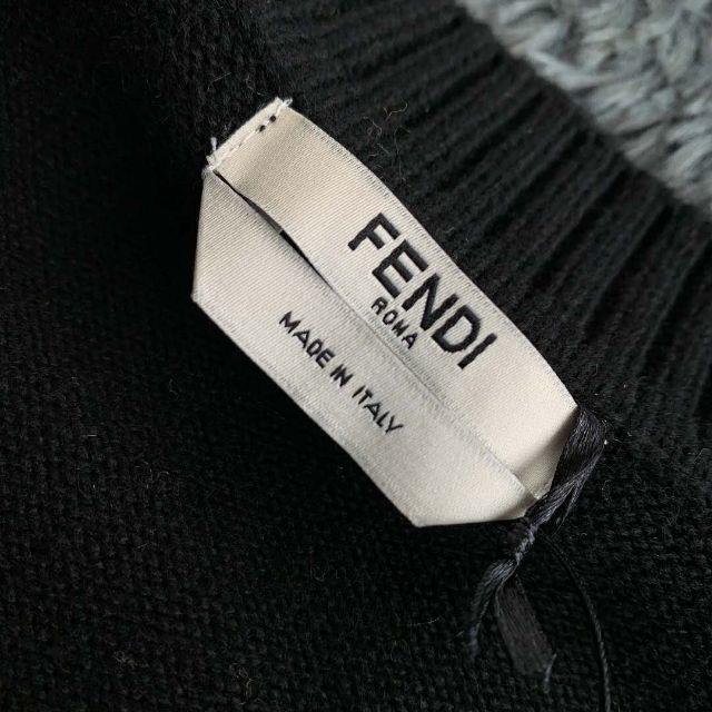 FENDI(フェンディ)のFENDI*セーター  前面ロゴモチーフ ウール メンズのトップス(ニット/セーター)の商品写真