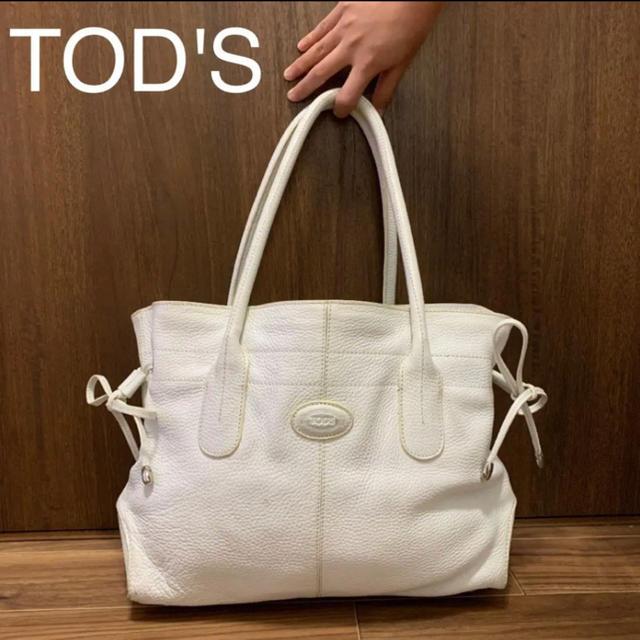 TOD'S(トッズ)のTOD'S トッズ ショルダーバッグ ホワイト レディースのバッグ(ショルダーバッグ)の商品写真