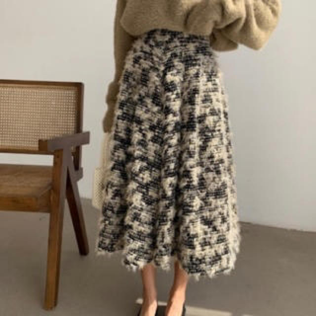 snidel(スナイデル)のbirthdaybash✴︎ツイードスカート レディースのスカート(ロングスカート)の商品写真