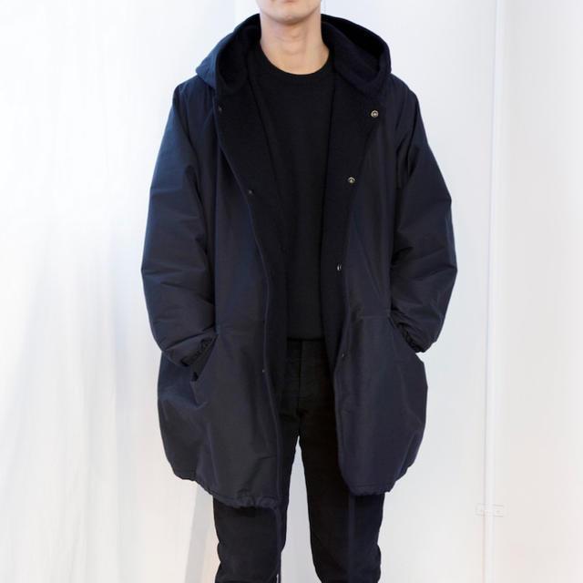 COMOLI(コモリ)の新品 SIZE 3 20AW COMOLI コットンシルク フーデッドコート メンズのジャケット/アウター(その他)の商品写真
