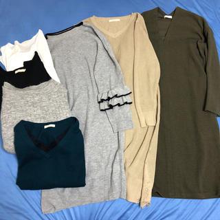 アースミュージックアンドエコロジー(earth music & ecology)の冬服ブランドまとめ売りワンピースセーター新品(ニット/セーター)
