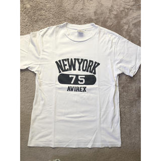 アヴィレックス(AVIREX)のAVIREX 白Tシャツ L :USAサイズ(Tシャツ/カットソー(半袖/袖なし))