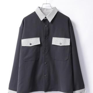 ハレ(HARE)のぼーん × BASQUE magemta TR 配色切替CPOシャツ(シャツ)