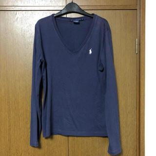 POLO RALPH LAUREN - ラルフローレン 紺 VネックTシャツ M