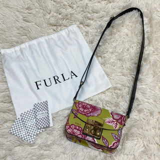 フルラ(Furla)の美品 日本未発売 FURLA メトロポリス フルラ ショルダー バッグ 海外限定(ショルダーバッグ)