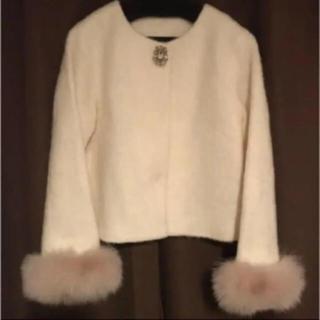 アプワイザーリッシェ(Apuweiser-riche)のファー付きバージャケット(毛皮/ファーコート)
