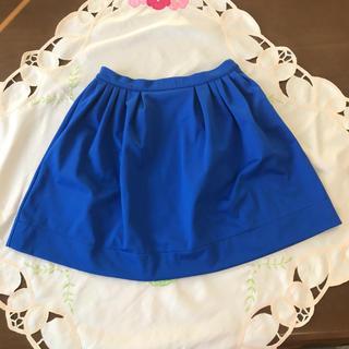 スライ(SLY)のSLY☆鮮やかブルーのスカート♪(ひざ丈スカート)