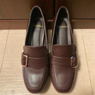 ヘザー(heather)のHeather ストームローファー ブラウン L ヘザー ローファー 厚底 茶色(ローファー/革靴)