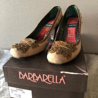 ドゥロワー(Drawer)の美品 BARBARELLAパンプス タッセルスタッズ イタリア製(ハイヒール/パンプス)