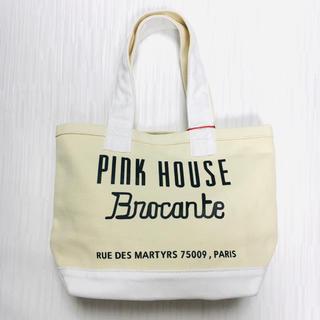 ピンクハウス(PINK HOUSE)のPINKHOUSE BROCANTE ロゴプリントランチトート 新品(トートバッグ)