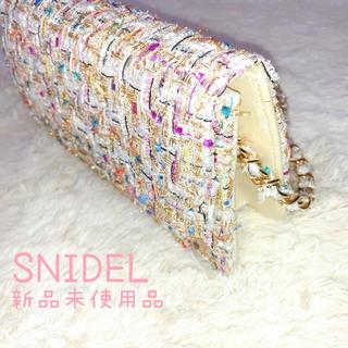 スナイデル(snidel)の新品 チェーンキルティングバッグ SNIDEL スナイデル ツイードバッグ(ショルダーバッグ)
