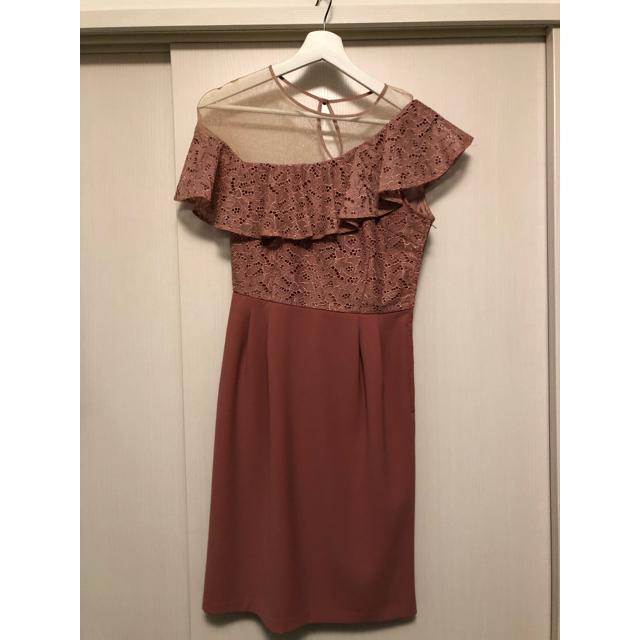 Lily Brown(リリーブラウン)のlilybrown♡ワンショルダードレス 結婚式ドレス レディースのフォーマル/ドレス(ミディアムドレス)の商品写真