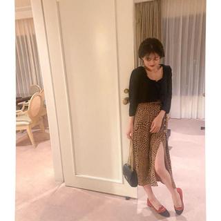 snidel - (即納) lip slit skirt -brown-❤︎