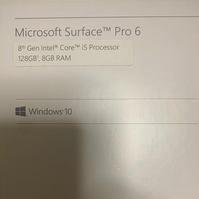 Microsoft(マイクロソフト)のSurface Pro 6  スマホ/家電/カメラのPC/タブレット(タブレット)の商品写真