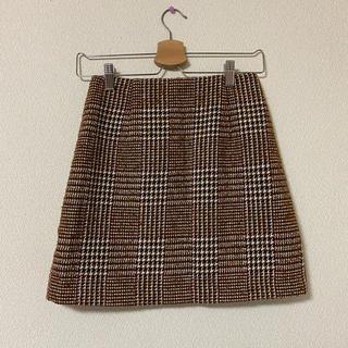 GU - チェック台形スカート