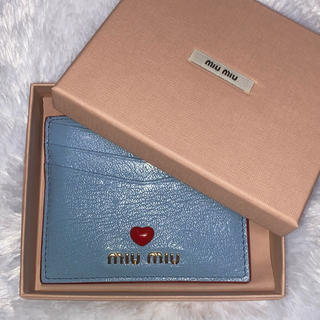 miumiu - 【正規品】miumiu マドラス ラブ カードケース ライトブルー