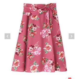 ジルスチュアート(JILLSTUART)のジル 花柄スカート(ひざ丈スカート)