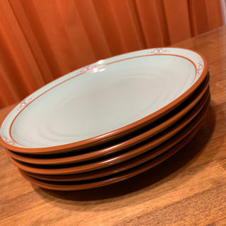 ノリタケ(Noritake)のノリタケ ストーンウェア ボルダーリッジ プレート 26cm 5枚 グリーン(食器)