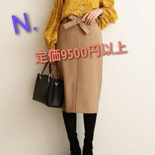 N.Natural beauty basic - N. リボン付スリットタイトスカート
