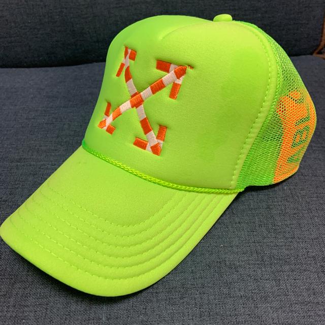 OFF-WHITE(オフホワイト)の由美子様専用 off-white メッシュキャップ ピンクand黄緑 メンズの帽子(キャップ)の商品写真