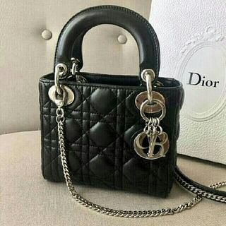 Christian Dior - 【美品】Dior レディディオールミニ シルバーチェーン
