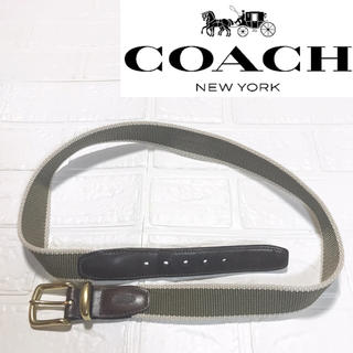 コーチ(COACH)の【COACH コーチ】 ベルト グリーン カーキ 3807 中古(ベルト)