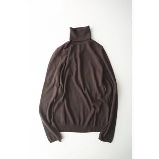 Drawer - 美品!Drawer カシミヤシルクタートルネックニット 長袖 ブラウン セーター