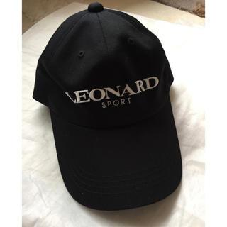 レオナール(LEONARD)の再お値下げ❗️LEONARD SPORT ロゴキャップ 新品未使用🌟(キャップ)