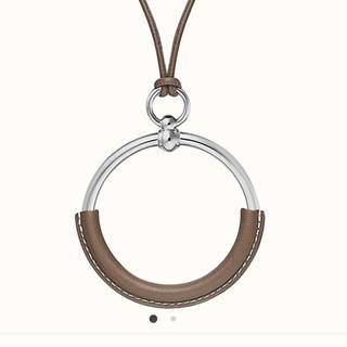 エルメス(Hermes)のループグラン エルメス 新品未使用 ネックレス ペンダント エトゥープ(ネックレス)