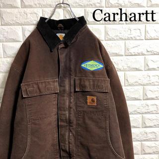 carhartt - カーハート ダックジャケット ワークジャケット 企業ロゴ メキシコ製 XLサイズ