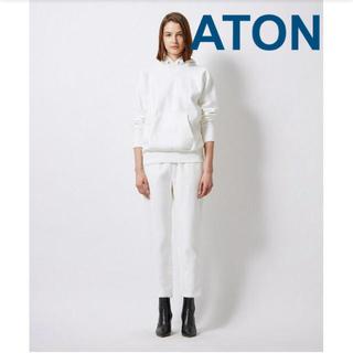 デミルクスビームス(Demi-Luxe BEAMS)のATON スウェットパンツ 31900円 ホワイト 白 02 ユニセックス(カジュアルパンツ)