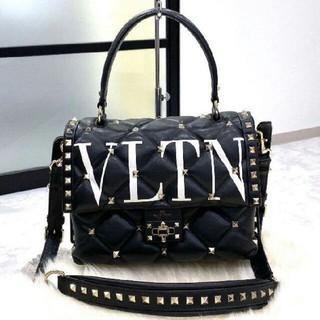 VALENTINO - valentino キャンディスタッズ ミディアム トップハンドルバッグ