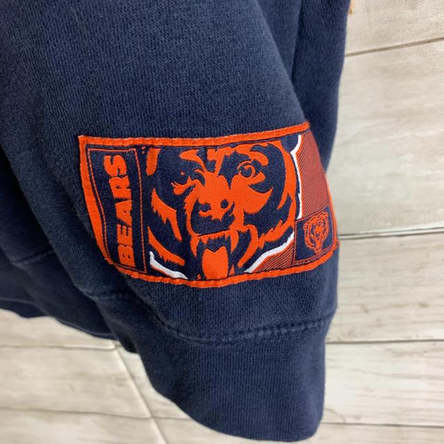 NIKE(ナイキ)のレア 古着 シカゴベアーズ スウェット トレーナー 刺繍ビッグロゴ ネイビー メンズのトップス(スウェット)の商品写真