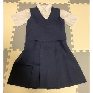 制服 夏用スカート ベスト ブラウス 3点セット Mサイズ