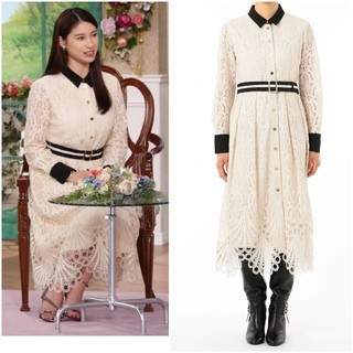 GRACE CONTINENTAL - 20aw 完売 グレースコンチネンタル レース刺繍ドレス